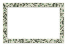 Dollars frame. Isolated Royalty Free Stock Images