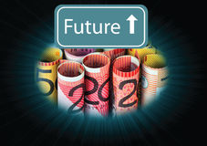 Dollars future Stock Photography