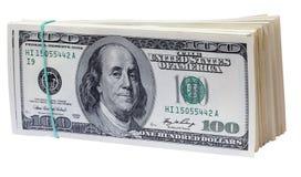 Dollars. Geïsoleerdd. Royalty-vrije Stock Afbeelding