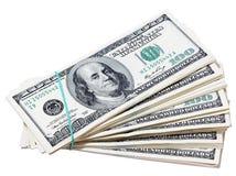 Dollars. Geïsoleerdn. Royalty-vrije Stock Foto's