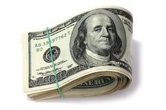 Dollars. Geïsoleerdh Royalty-vrije Stock Foto