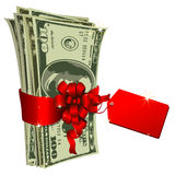 Dollars gift Stock Photography