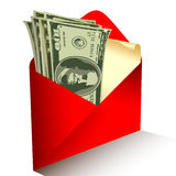 Dollars gift Stock Images