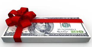 Dollars gift pack Royalty Free Stock Photo