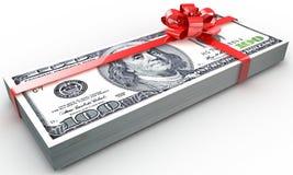 Dollars gift pack Stock Image