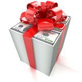 Dollars gift pack Stock Photography