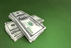 Dollars on green Stock Photography