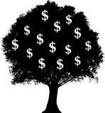 Dollars growing on tree Royalty Free Stock Images