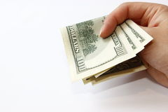Dollars in hand Royalty Free Stock Image