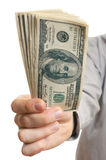 Dollars in the hand Royalty Free Stock Photography