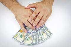 Dollars in hand Royalty Free Stock Photo
