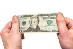 Dollars in the hand Royalty Free Stock Photos