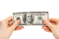 Dollars in the hand Stock Image