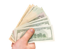 Dollars in the hand Royalty Free Stock Images