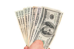 Dollars in the hand Stock Photography