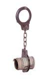 Dollars in handcuff Stock Image