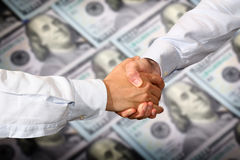 Dollars Handshake Stock Photos