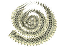 Dollars helix. The helix (spiral) of United States dollars Stock Image