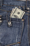 Dollars in his back pocket Stock Images