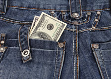 Dollars in his back pocket Royalty Free Stock Images