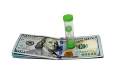 Dollars and hourglass Royalty Free Stock Image