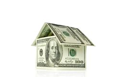 Dollars house Royalty Free Stock Photos