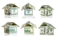Dollars house Royalty Free Stock Photo