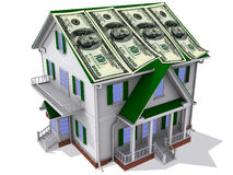 Dollars on house Stock Photography