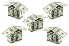 Dollars houses Stock Photos