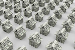Dollars houses Stock Image