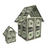 Dollars houses Stock Photo