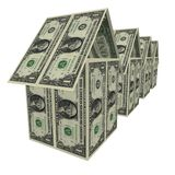 Dollars houses Stock Photography
