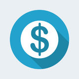 Dollars icon Royalty Free Stock Images