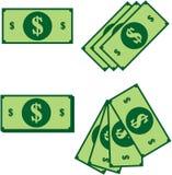 Dollars. Illustration of different dollar's set Royalty Free Stock Photo