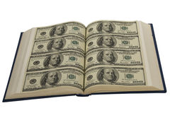Dollars In Book Royalty Free Stock Images