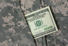 Dollars In Uniform Pocket Stock Images