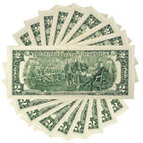 Dollars isolated Royalty Free Stock Images