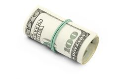 Dollars isolated Stock Images