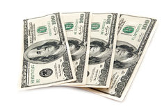 Dollars isolated Stock Photography