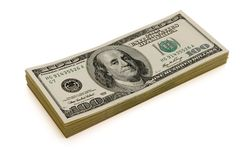 Dollars isolated Royalty Free Stock Photography