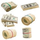 Dollars isolated on a white Royalty Free Stock Photos