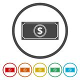 Dollars isolated on white. Vector icon vector illustration