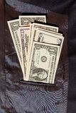 Dollars in jacket Royalty Free Stock Image