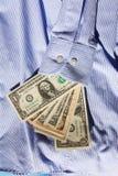 Dollars in koker Stock Afbeeldingen