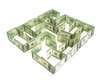 Dollars Labyrinth Royalty Free Stock Image