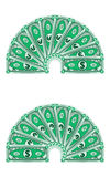 Dollars laid out in a semicircle, money Stock Image