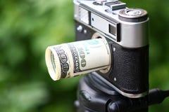 Dollars lens Stock Photography