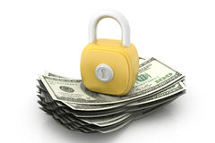 Dollars and lock Stock Photos