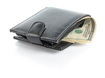 Dollars in male purse Royalty Free Stock Images