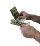 Dollars and man's hand Stock Photo